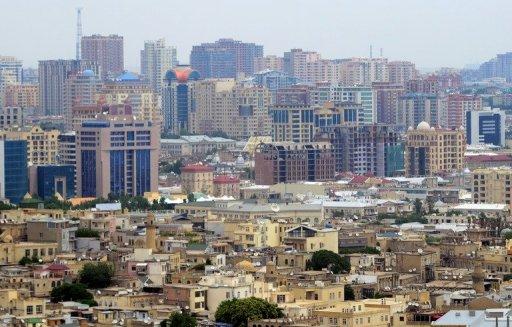 A general view of Baku