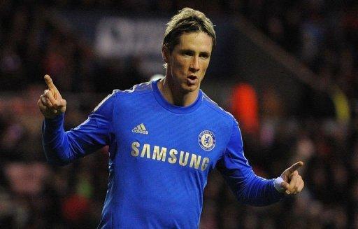 Chelsea's forward Fernando Torres celebrates