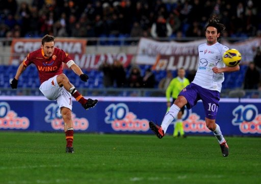 The evergreen Francesco Totti scored a brace in the 4-2 home win over Fiorentina