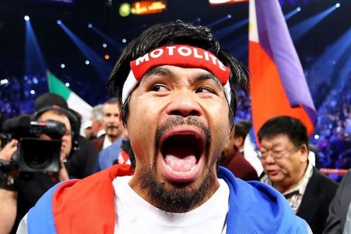 Manny Pacquiao, pictured before taking on Juan Manuel Marquez in their welterweight bout in Las Vegas