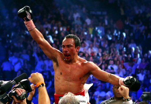 Juan Manuel Marquez suffered a broken nose and possible concussion
