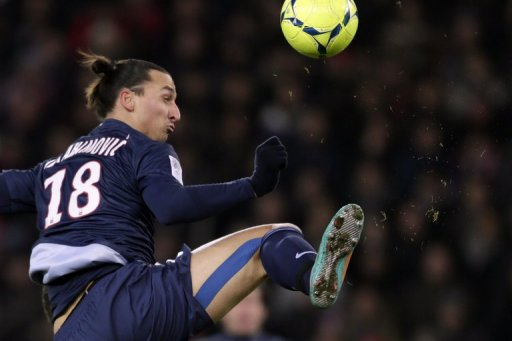 Zlatan Ibrahimovic increased his league-leading goal tally to 14 for PSG in the 4-0 win over Evian