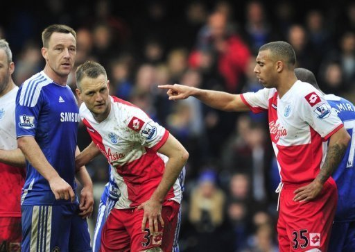 John Terry (L) served a four-game ban after being found guilty of racially abusing Anton Ferdinand (R)