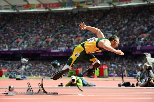 South African Oscar Pistorius, pictured at the Olympic Games on August 4, 2012