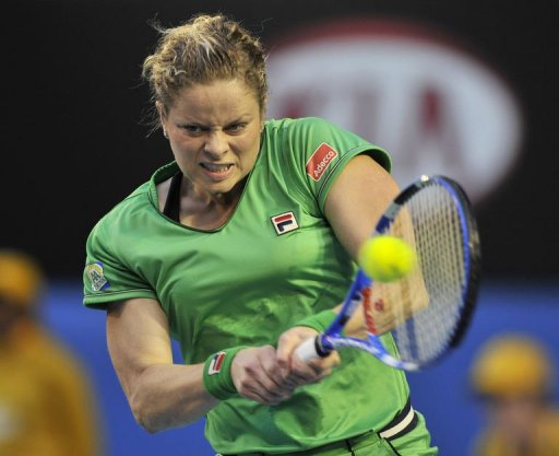 Former world number one Kim Clijsters, pictured on January 29, 2011