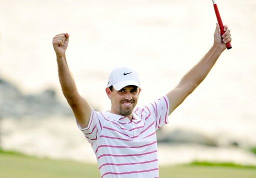 This handout photo from the Asian Tour on December 9, 2012 shows Charl Schwartzel of South Africa