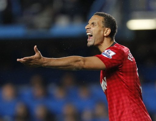 Manchester United star Rio Ferdinand is seen during a match in London on October 28, 2012