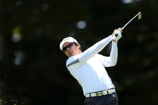 Kyung-Tae Kim plays in the U.S. Open in San Francisco, California on June 14, 2012