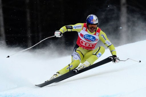Norway's Aksel Lund Svindal competes in Val Gardena on December 14, 2012