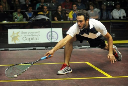 Ramy Ashour plays in Canberra on August 19, 2012