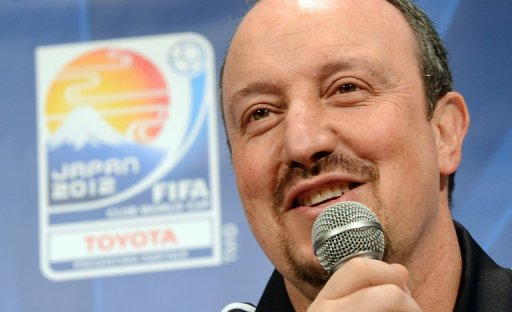 Chelsea football club manager Rafael Benitez in Yokohama, Japan on December 10, 2012