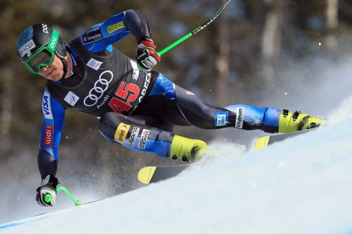 Steven Nyman in the men's downhill on November 30, 2012 in Beaver Creek, Colorado.