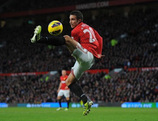 Manchester United's forward Robin van Persie in action on December 15, 2012