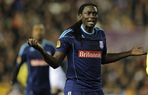Kenwyne Jones during a match in Valencia on February 23, 2012