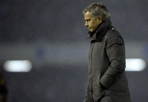 Real Madrid coach Jose Mourinho in Vigo on December 12, 2012
