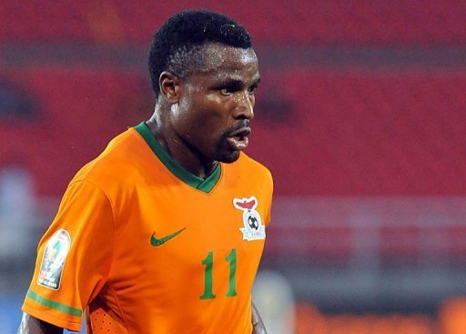 Zambia's Christopher Katongo during his side's Africa Cup of Nations match against Libya on January 25, 2012