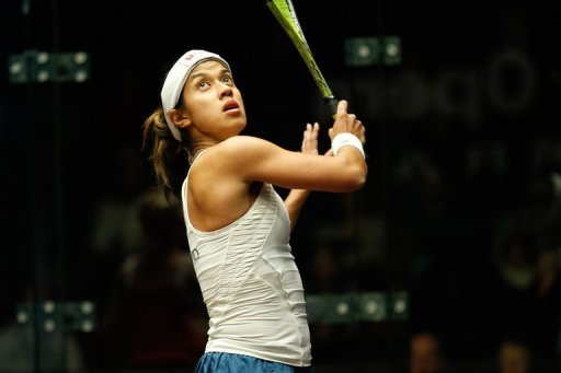 Squash world No. 1, Nicol David, pictured during the Australian Open in Canberra, on August 10, 2011