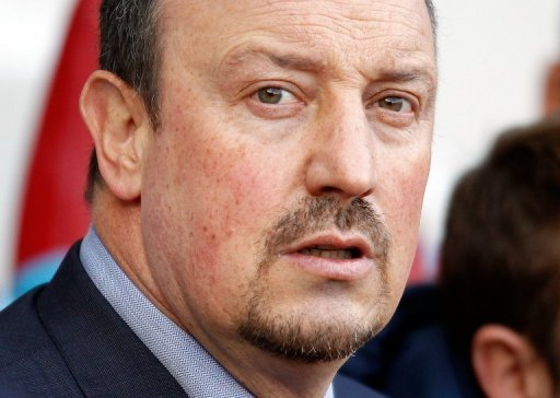Chelsea interim manager Rafael Benitez pictured before the kick-off at a Premier League match on December 1, 2012