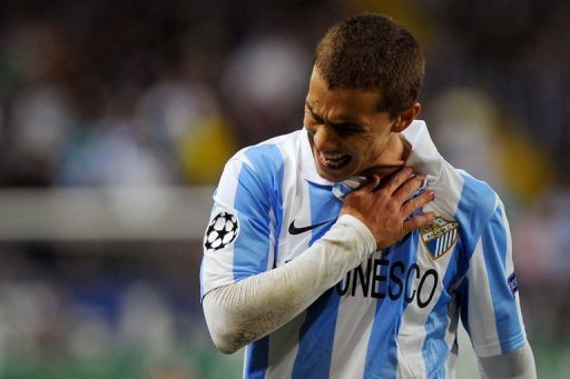 Malaga forward Sebastian Fernandez pictured during a Champions League game in Malaga on December 4, 2012
