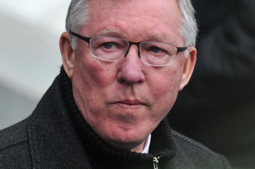 Manchester United manager Alex Ferguson at his side's Premier League match against City on December 9, 2012