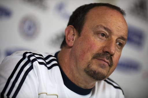 Chelsea interim manager Rafael Benitez at a press conference in Surrey, south of London, on December 18, 2012