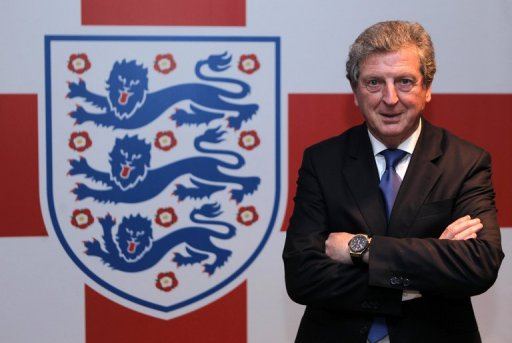 England football manager Roy Hodgson at Wembley Stadium in London May 1, 2012