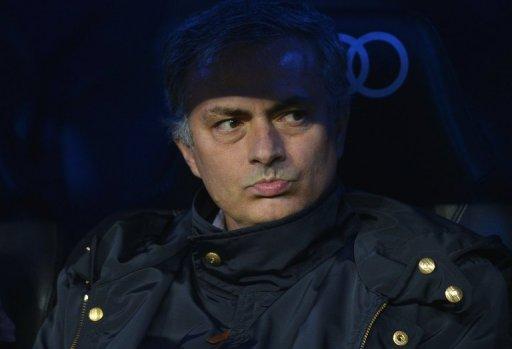 Jose Mourinho at Bernabeu stadium in Madrid, December 16, 2012