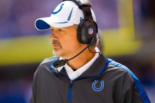 Head coach Chuck Pagano of the Indianapolis Colts on September 23, 2012 in Indianapolis
