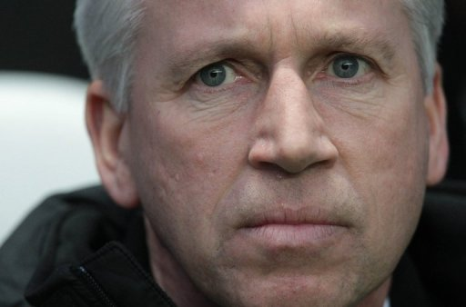 Newcastle United manager Alan Pardew looks on before a match against QPR at St James' Park on December 22, 2012