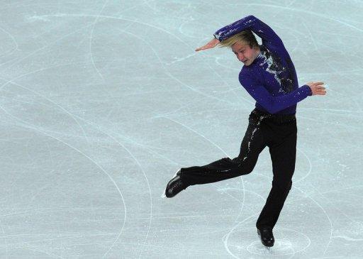 Yevgeny Plushenko performs in England on January 26, 2012