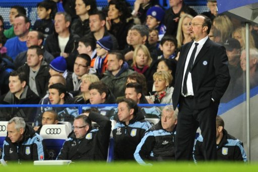 Chelsea's interim manager Rafael Benitez saw his side smash Aston Villa 8-0 in the Premier League on December 23, 2012