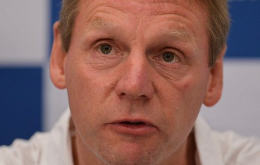England under-21 coach Stuart Pearce pictured in London on July 2, 2012