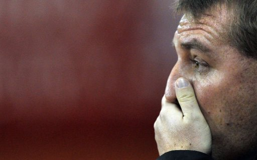 Liverpool manager Brendan Rodgers reacts at The Britannia stadium, Stoke-on-Trent, on December 26, 2012