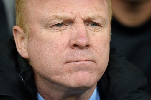 Aston Villa manager Alex McLeish at The Hawthorns in West Bromwich, West Midlands, England on April 28, 2012