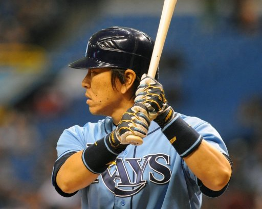 Hideki Matsui, seen here while batting for the Tampa Bay Rays, in St. Petersburg, Florida, on July 22, 2012