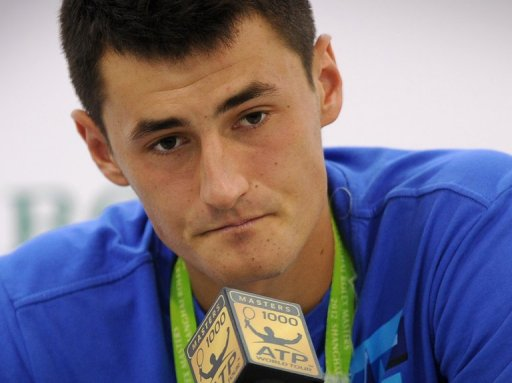Young Australian tennis star, Bernard Tomic, pictured during a press conference in Shanghai, on October 9, 2012