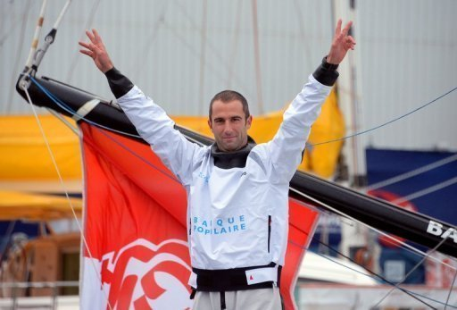 French skipper Armel Le Cleac'h before the start of the 7th edition of the Vendee Globe, in France on November 10, 2012