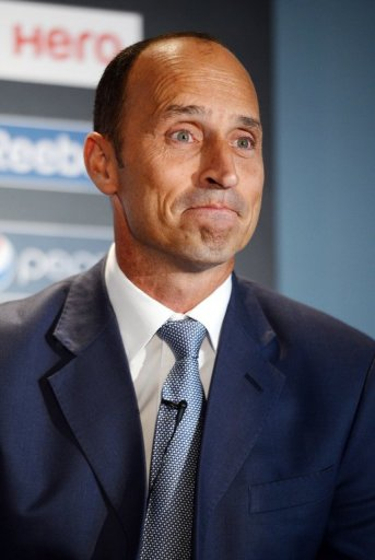 Ex-England cricket captain Nasser Hussain at the launch of the 2013 Champions Trophy in London on October 17, 2012