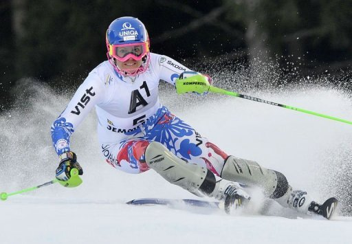 Slovakia's Veronika Velez Zuzulova competes on December 29, 2012