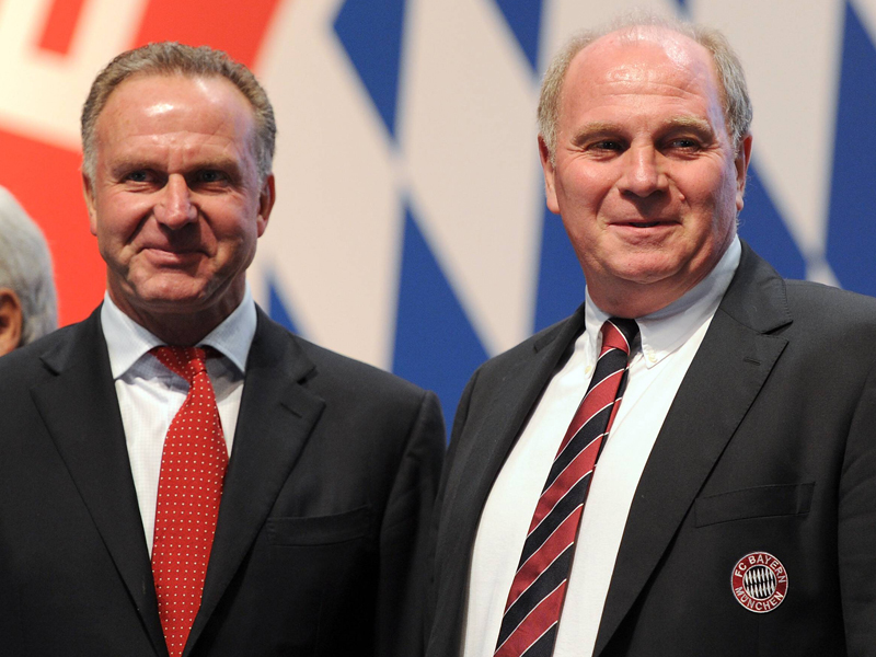 Club Chairman Karl-Heinz Rummenigge and President Uli Hoeness