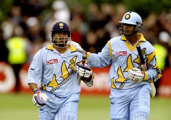 Sachin Tendulkar and Rahul Dravid of India