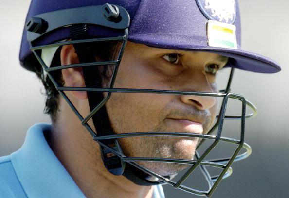 A dejected Indian cricketer Sachin Tendu