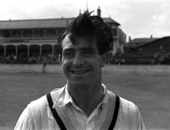 Sport. Cricket. England. 1956. A portrait of Yorkshire and England fast bowler Fred Trueman.