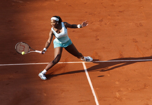 US Serena Williams hits a return to Fran