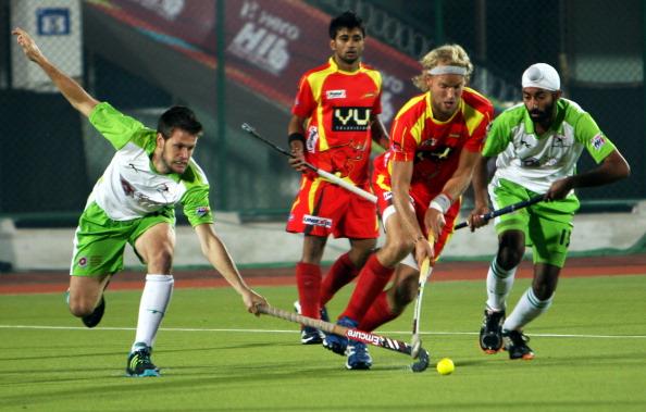 Hockey India League Match Between Ranchi Rhinos And Delhi Waveriders