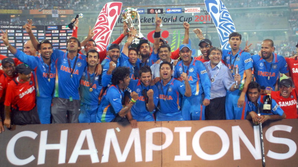 ICC cricket world cup final match between India and Sri Lanka at Mumbai.