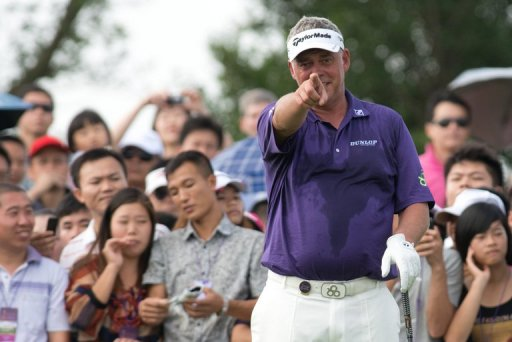 Darren Clarke of Northern Ireland at the Mission Hills golf resort in Haikou, China on October 20, 2012