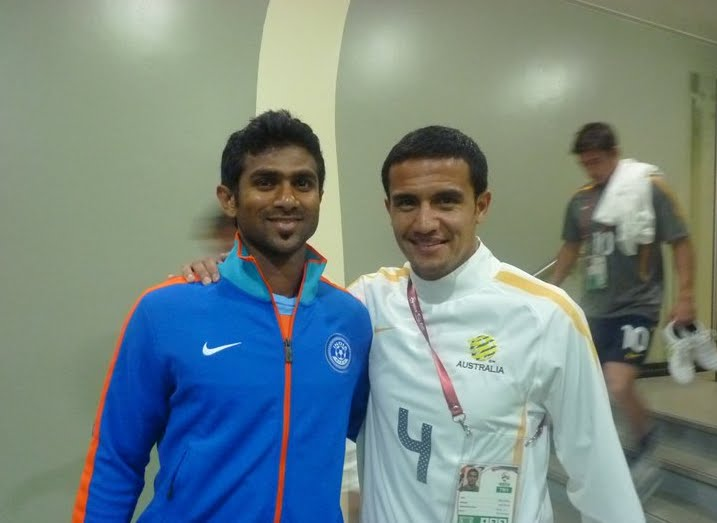 Rafi with Tim Cahill