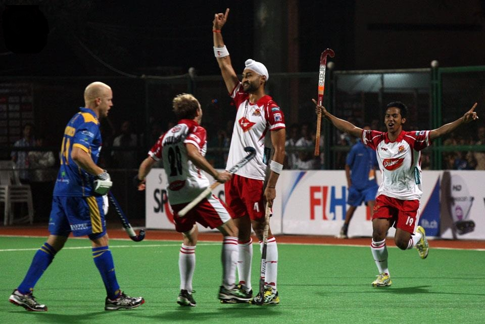 Sandeep after scoring against Punjab Warriors.