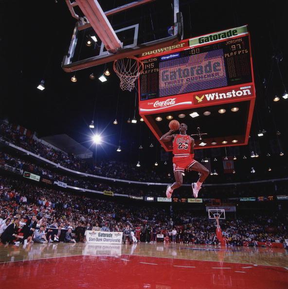 Chicago Bulls Michael Jordan, 1988 NBA Slam Dunk Contest